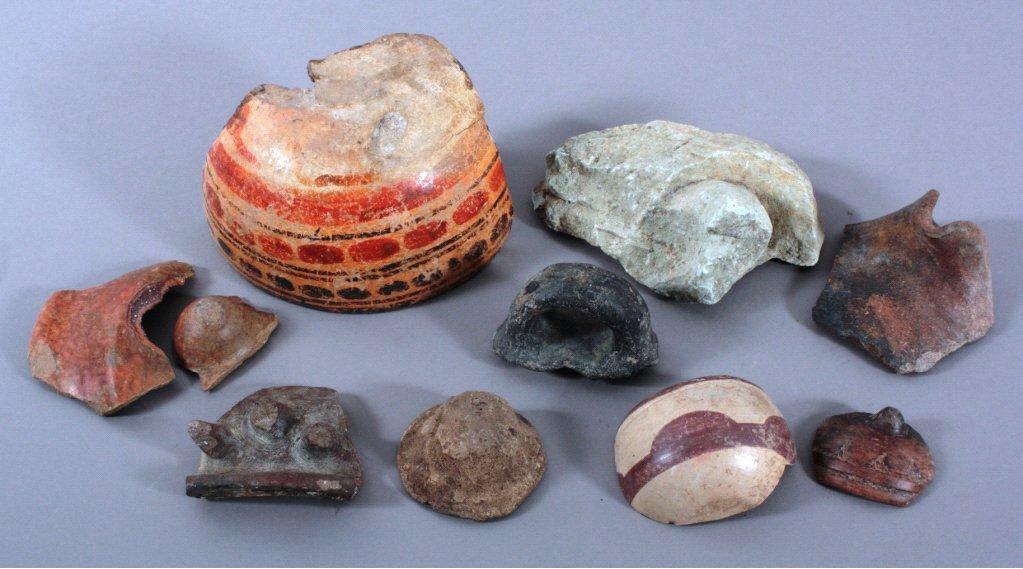 Maya-Kultur, 10 verschiedene Artefakte ca. 500 n.Chr