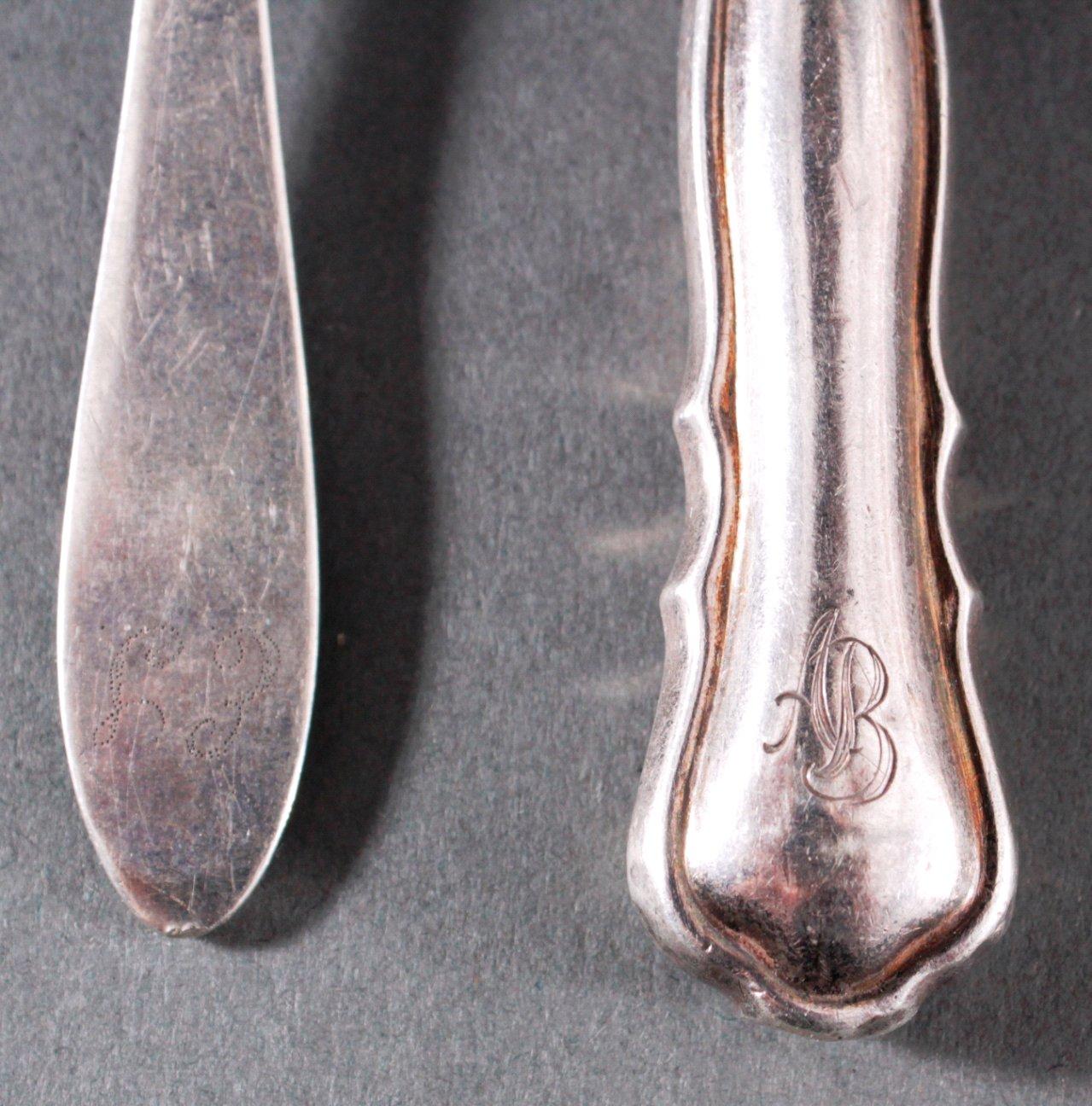 Kleines Besteckkonvolut Silber-1