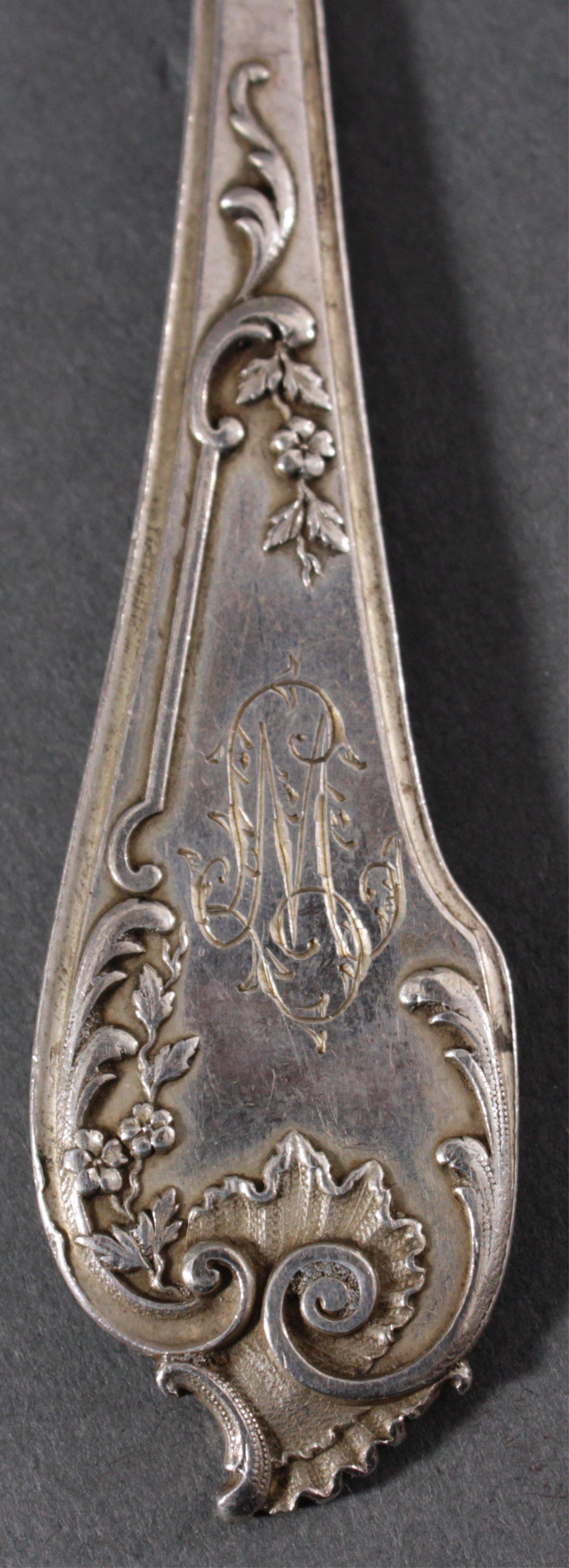 Kleines Besteckkonvolut Silber-3