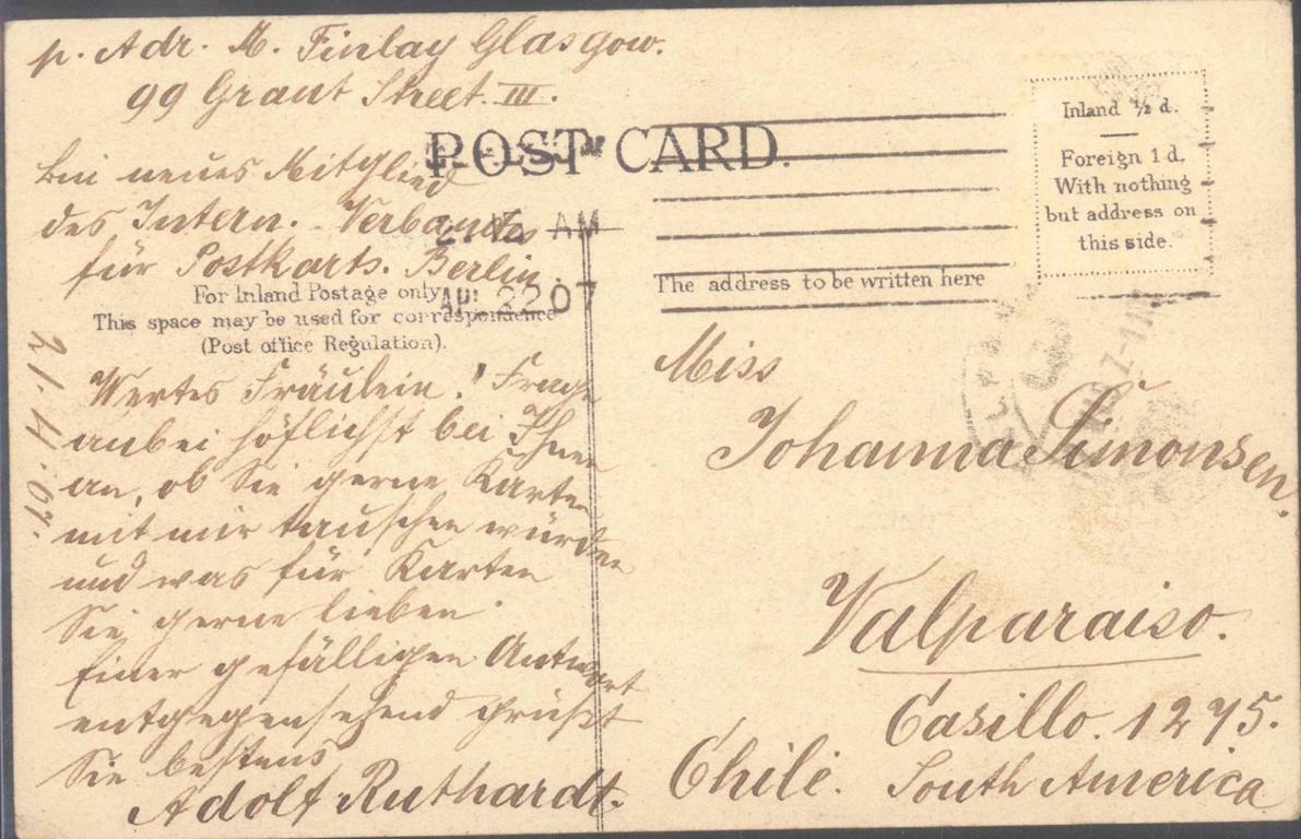 MOTIV Musik – RUTHARDT – und Postgeschichte / Postkarten