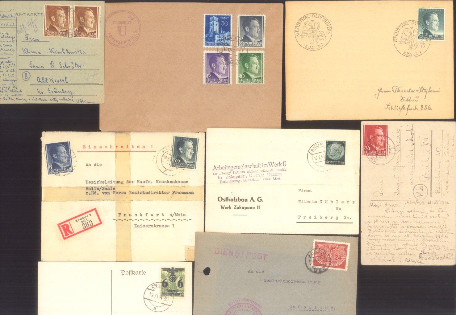 GENERALGOUVERNEMENT 1940-1945, Belegeposten
