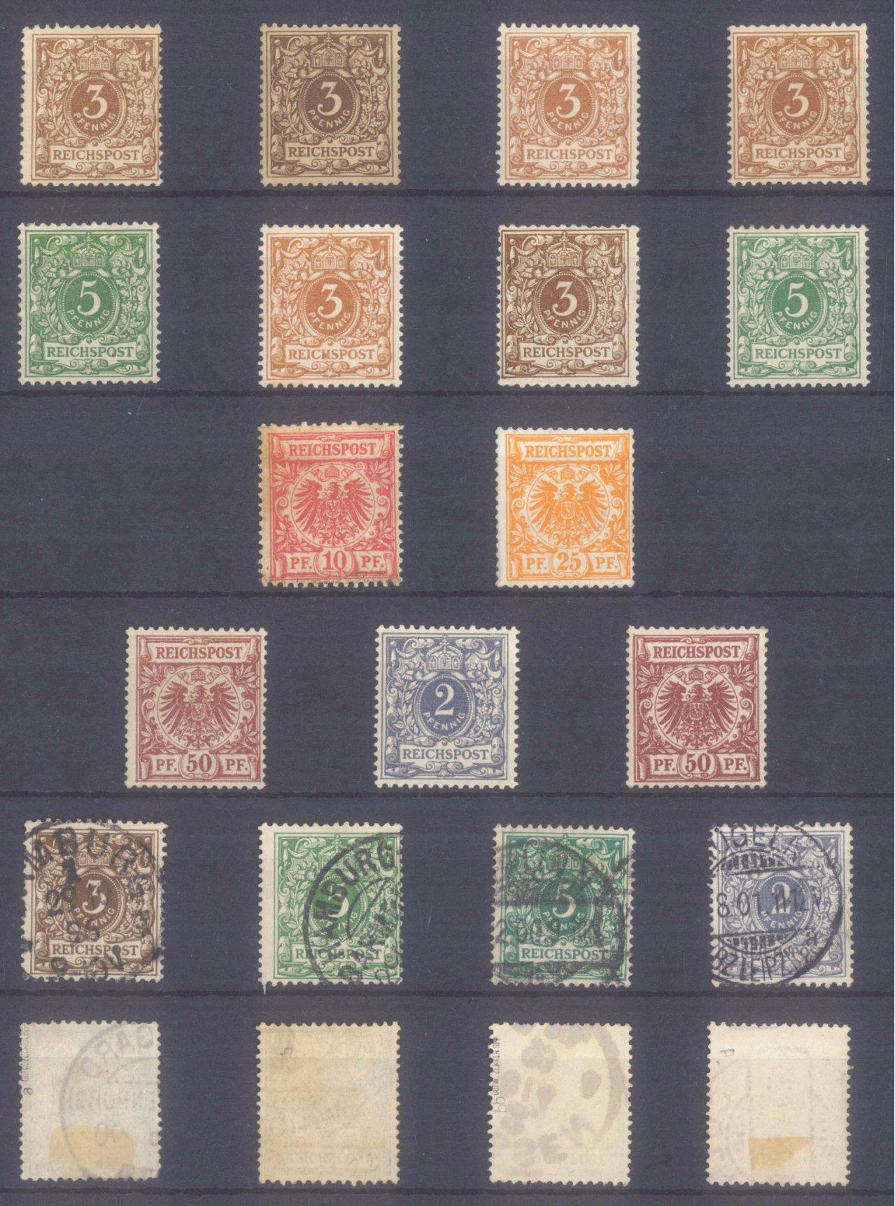 DEUTSCHES REICH – KRONE/ADLER 1889-1900, 13 WERTE!
