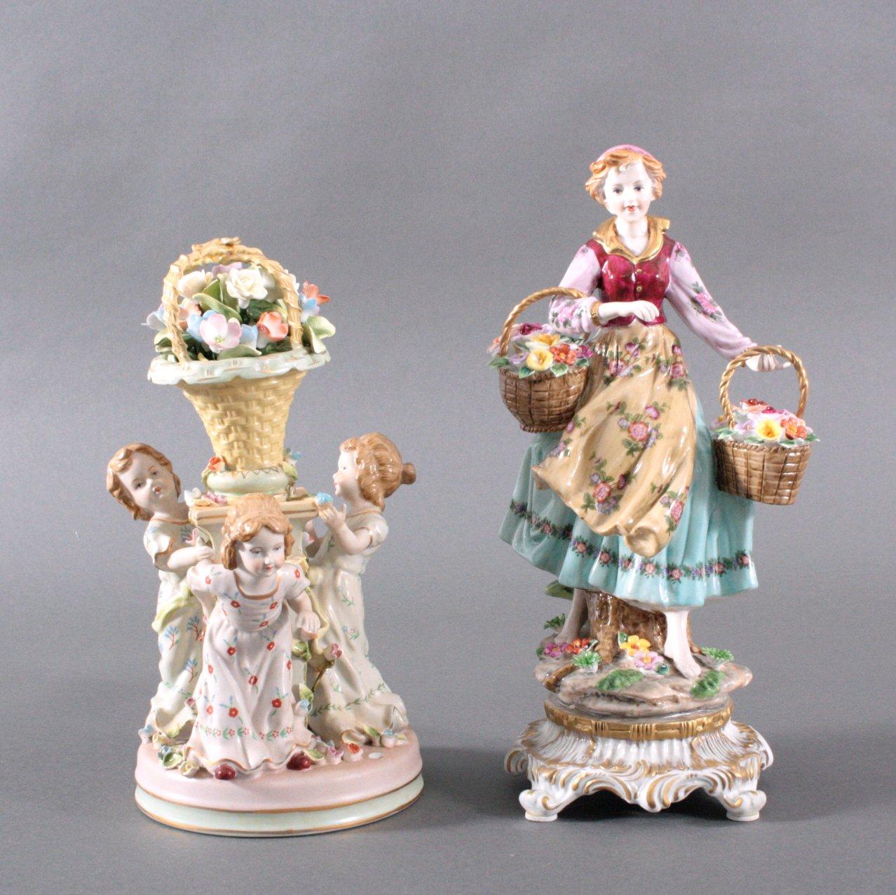 2 Porzellanskulpturen, Fanatsiemarken