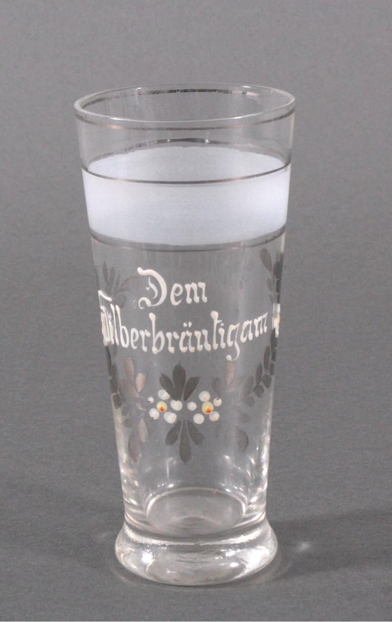 Glas, handbemalt, um 1900