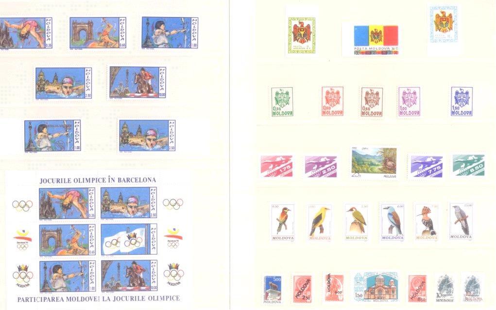 MOLDAVIEN 1991 bis 1994 komplett postfrisch!