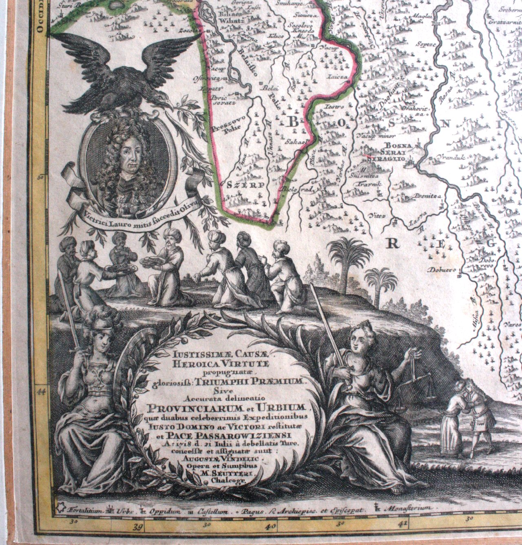 Altkolorierte Kupferstichkarte HUNGARIA INNFR-1