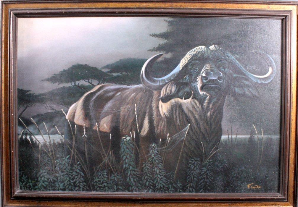 F. Laube (1914-1993), Afrikanischer Wasserbüffel