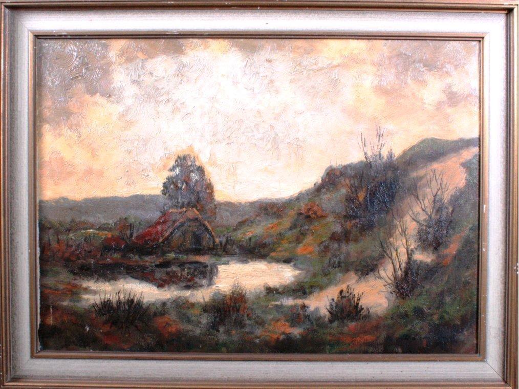 Herrmann, Moorlandschaft mit Haus