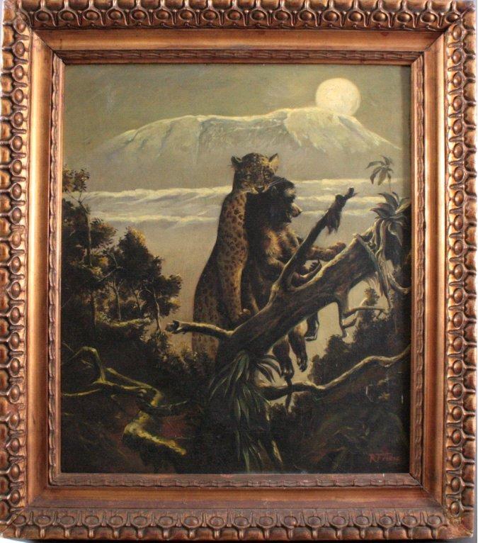Richard Friese. Tiger mit erlegtem Affen