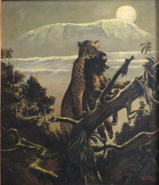 Richard Friese. Tiger mit erlegtem Affen-1
