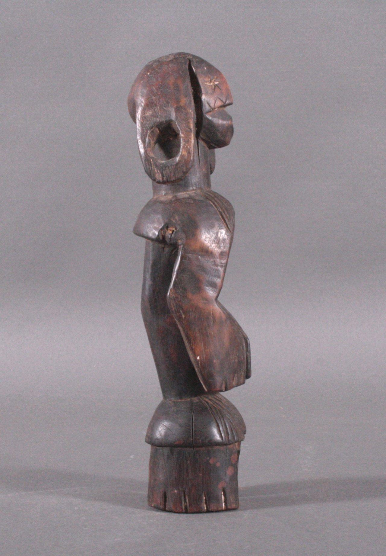 Kleine Figur der Mumuye, Nigeria, 1. Hälfte 20. Jh.-2