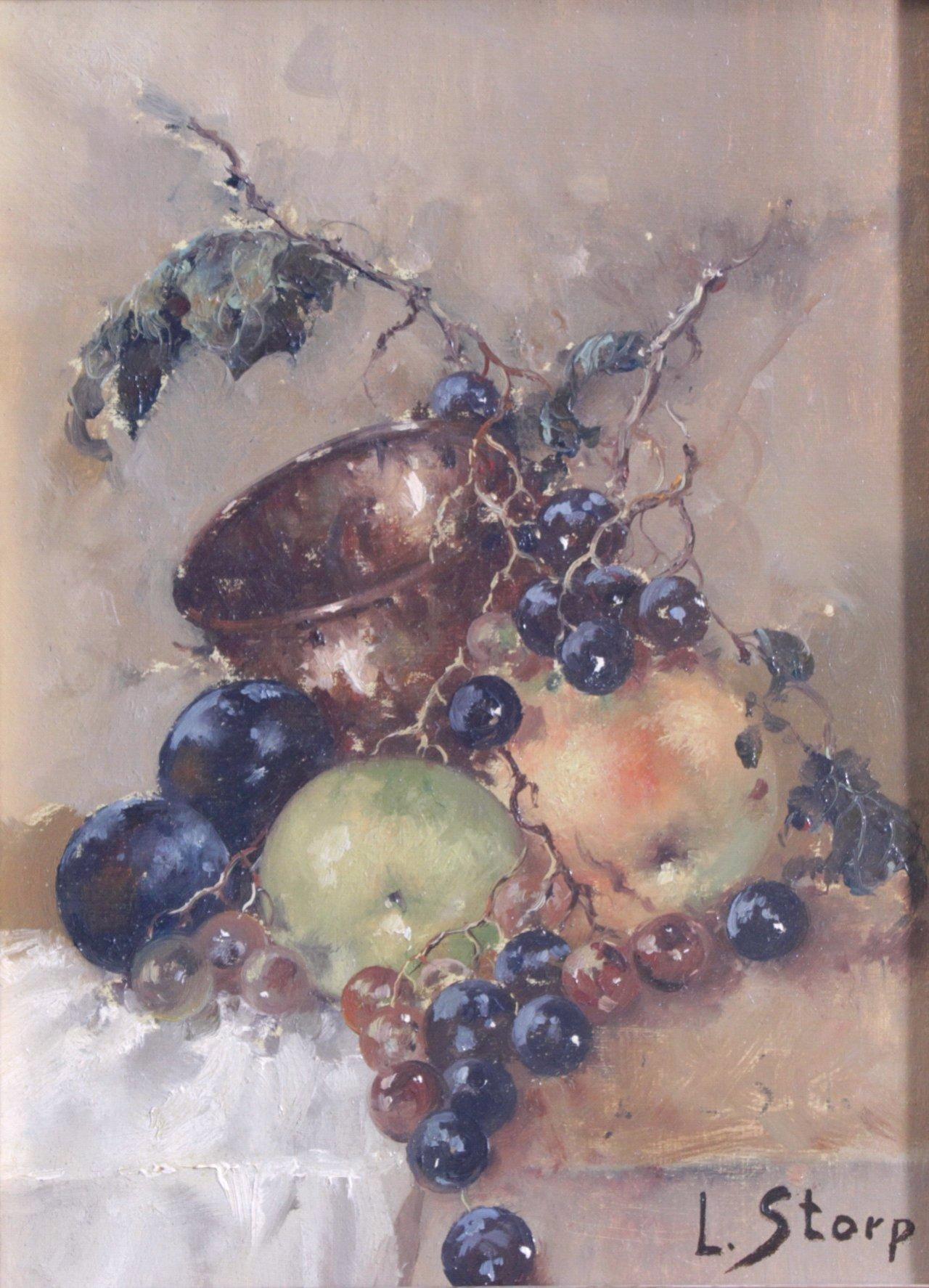 L. Storp ?-?, Stillleben mit Früchten-1