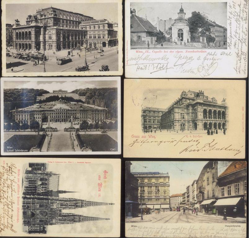 ÖSTERREICH Ansichtskarten WIEN 1898-1940