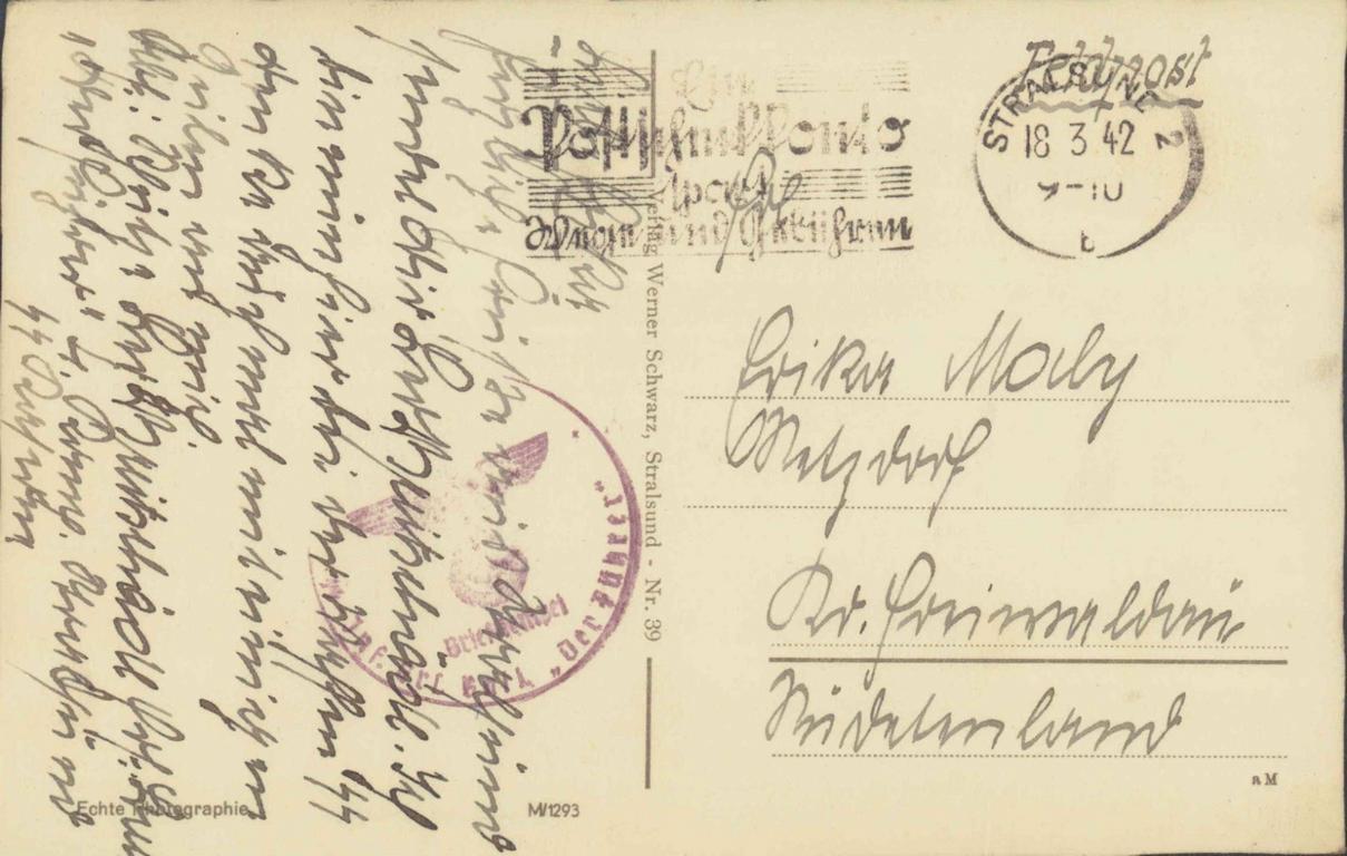 "SS-FELDPOST 1942, INFANTERIE BATAILLON ""DER FÜHRER"""