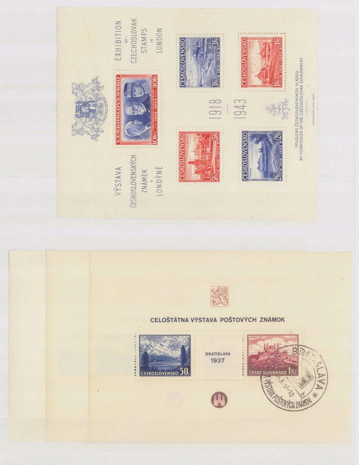 1943 TSCHECHOSLOWAKEI / WOHLTÄTIGKEITS-BLOCK EXILREGIERUNG