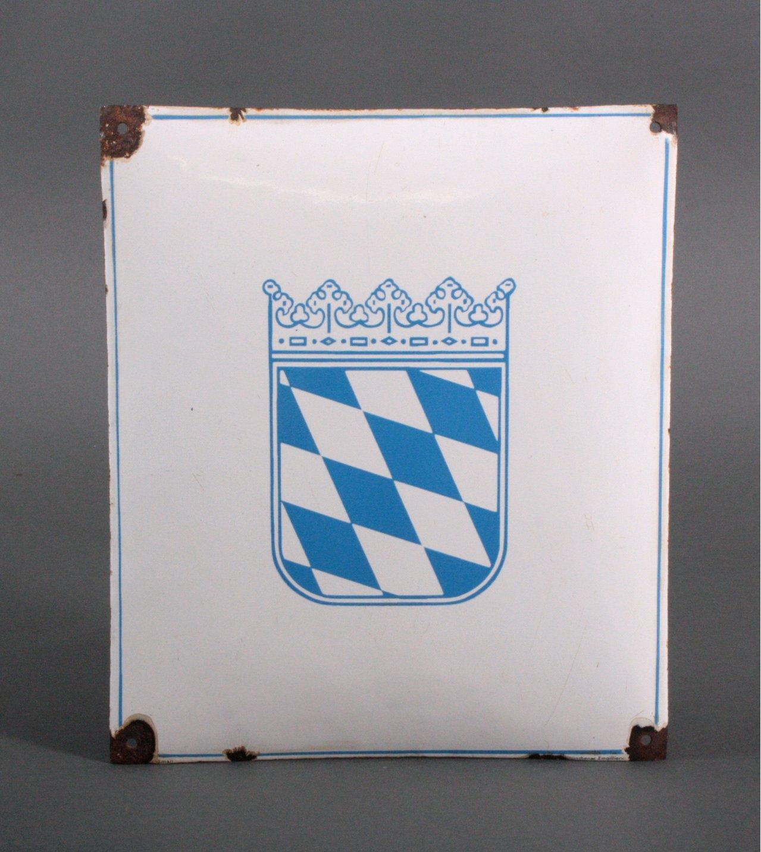 Altes Emailschild Bayerische Raute
