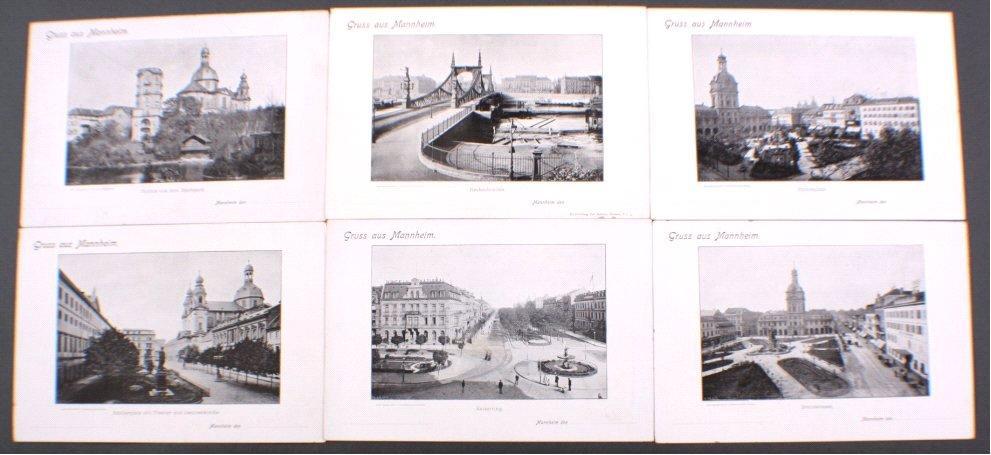 6 überdimensional Große Postkarten, Gruß aus Mannheim