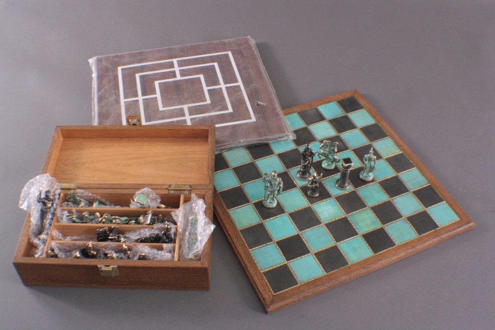 Schach- Dame- Muhle Brettspiel