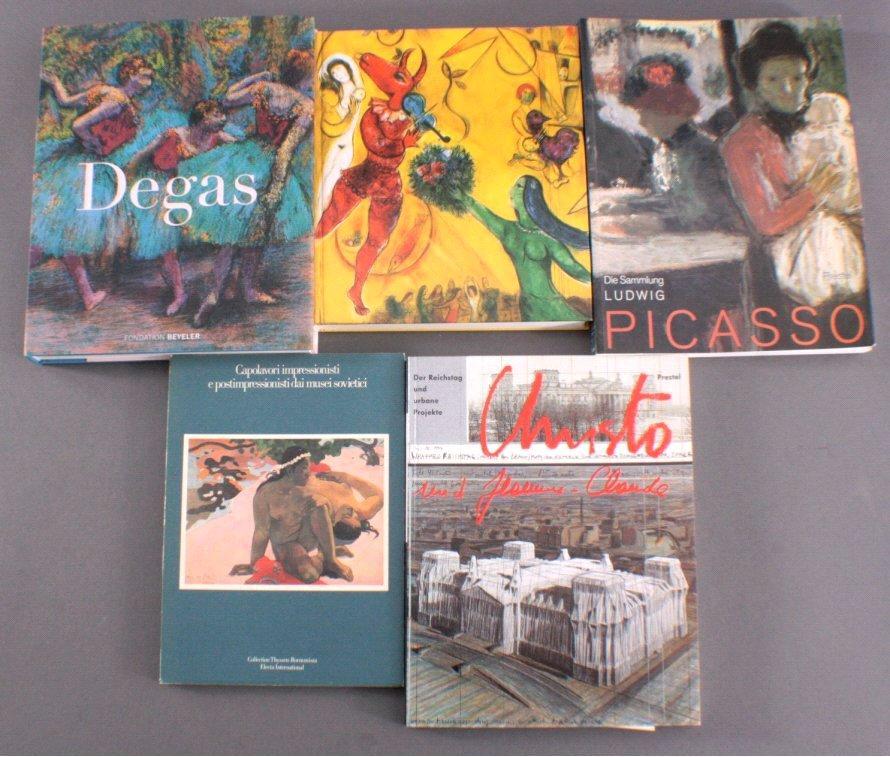 Fünf Kunstbücher