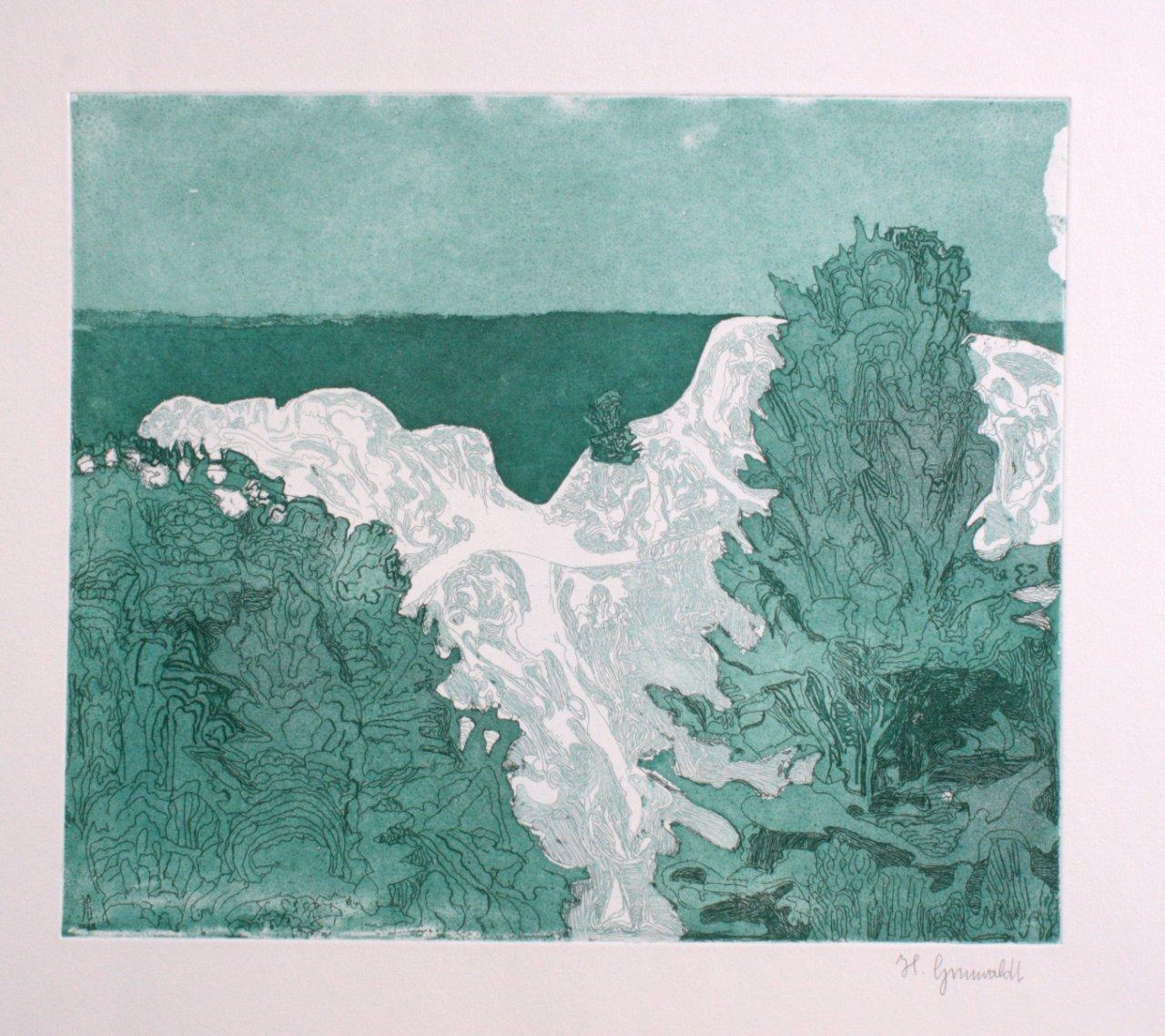 """Herbert Grunwaldt (1928) """"Wasserfall"""""""