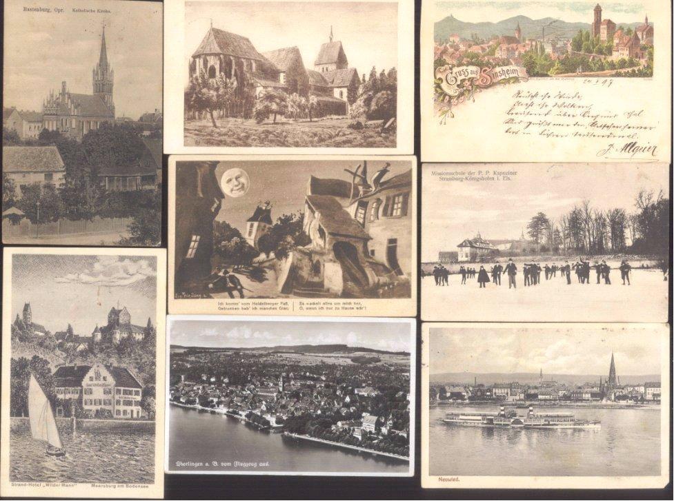 DEUTSCHES REICH 1897-1942, 20 Ansichtskarten Topographie