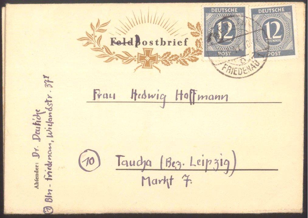 1947 FELDPOST III. REICH,