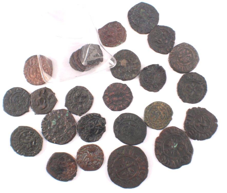28 Antike Münzen, Kreuzfahrer, Frederico / Manfredo, ss