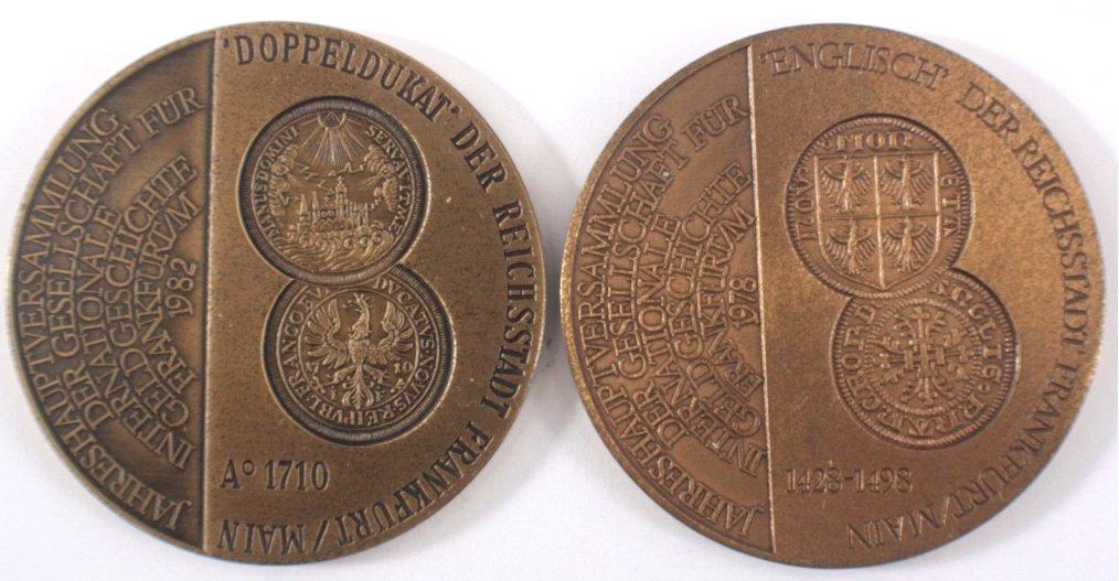 Konvolut Medaillen Geldgeschichte Frankfurt
