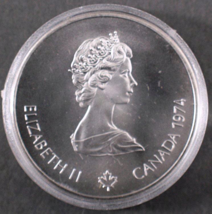Silbermünze 5 Dollars Canada, Montreal 1976 PP
