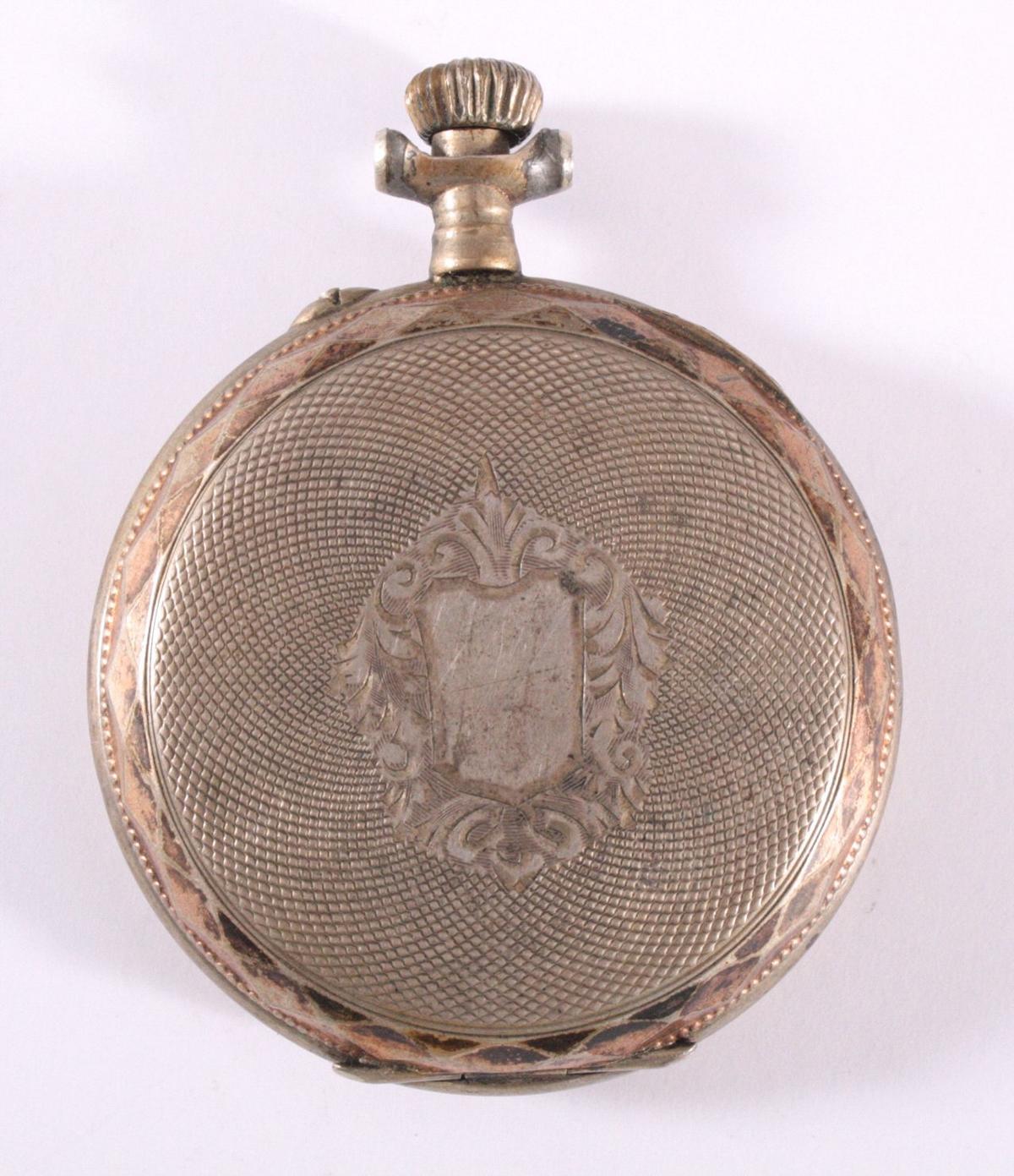 Silberne Herrentaschenuhr um 1900-1
