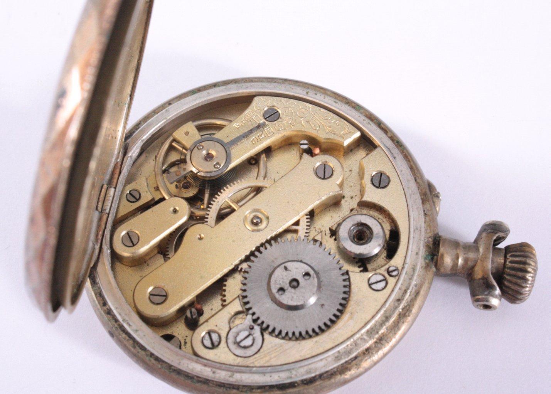 Silberne Herrentaschenuhr um 1900-2