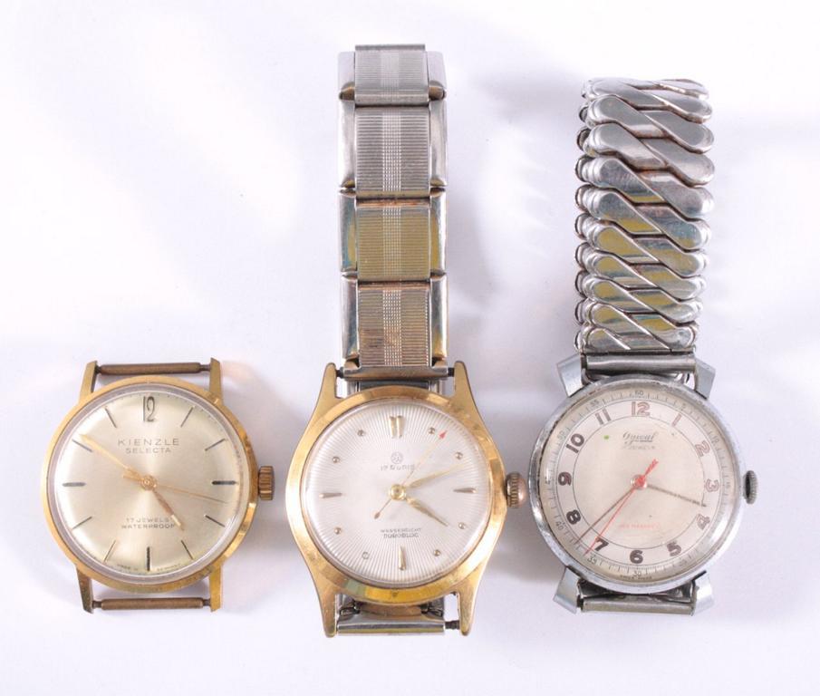 3 Herrenarmbanduhren aus den 50er Jahren