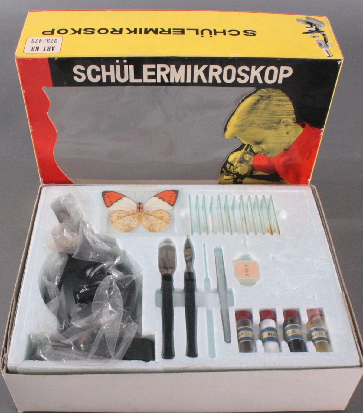 Schülermikroskop Art. Nr. 379/476 aus den 70er Jahren