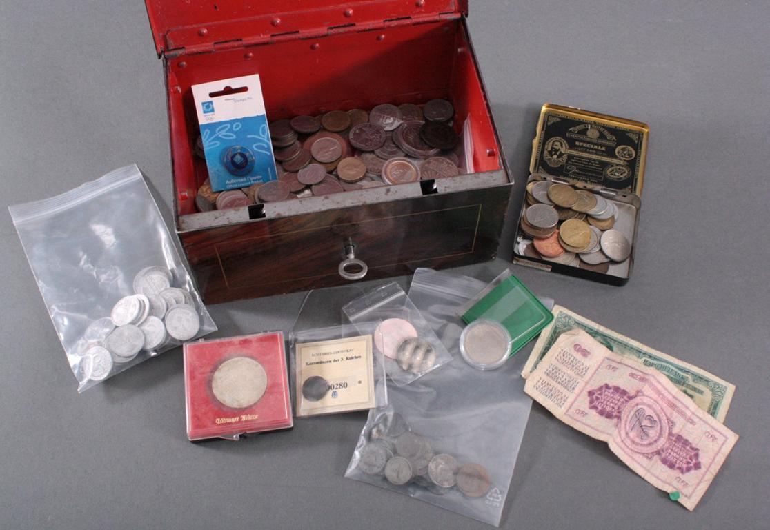 Konvolut Münzen, Alle Welt