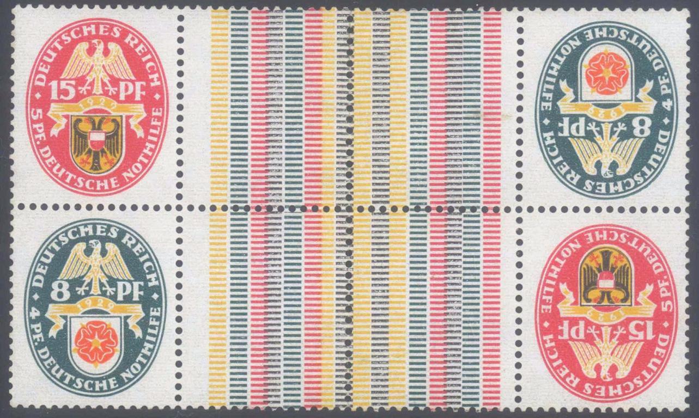 DEUTSCHES REICH Nothilfe 1929, ZUSAMMENDRUCK