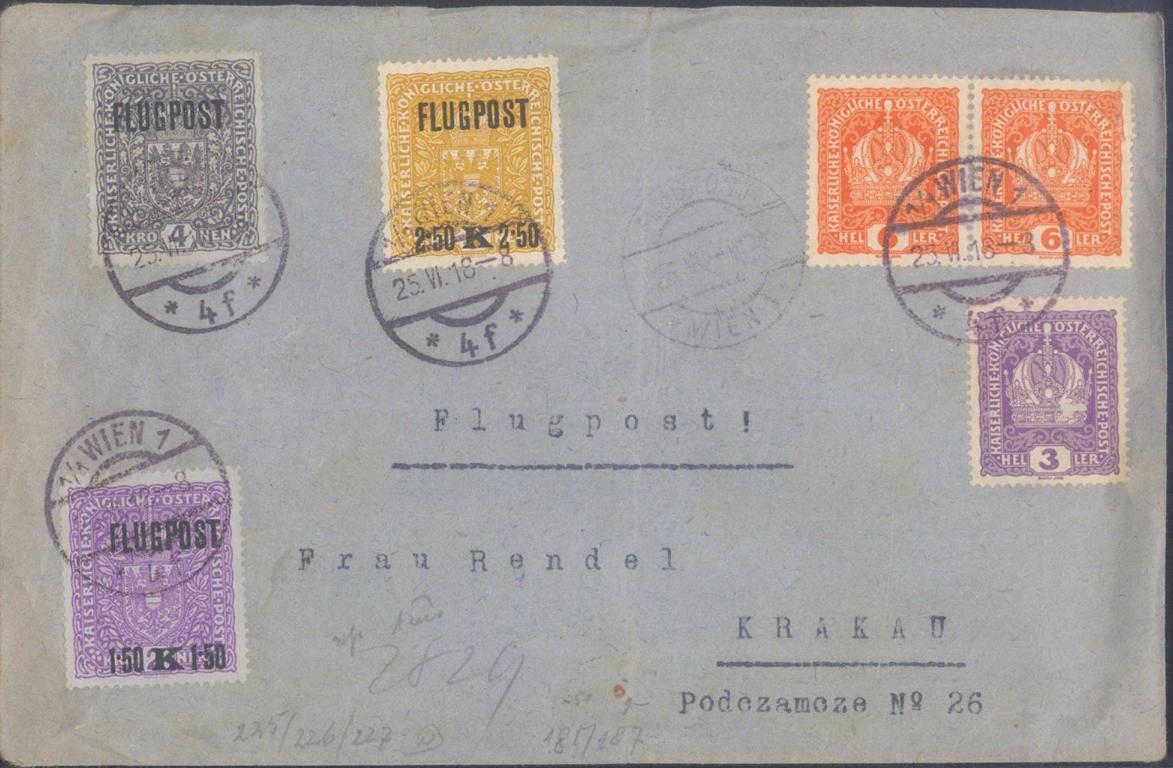 1918 ÖSTERREICH FLUGPOST