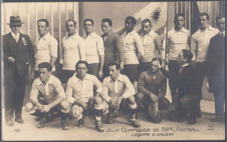 MOTIV FUSSBALL, OLYMPIADE 1924 PARIS, URUGUAY Mannschaft