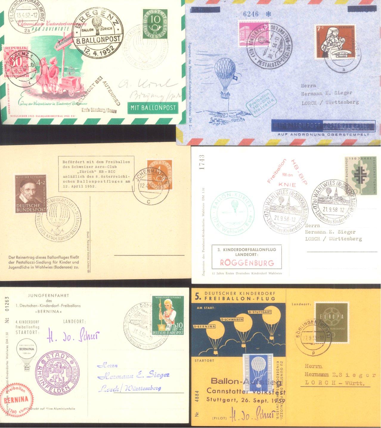 MOTIV BALLONPOST / KINDERDORF BALLONPOST 1952-1972