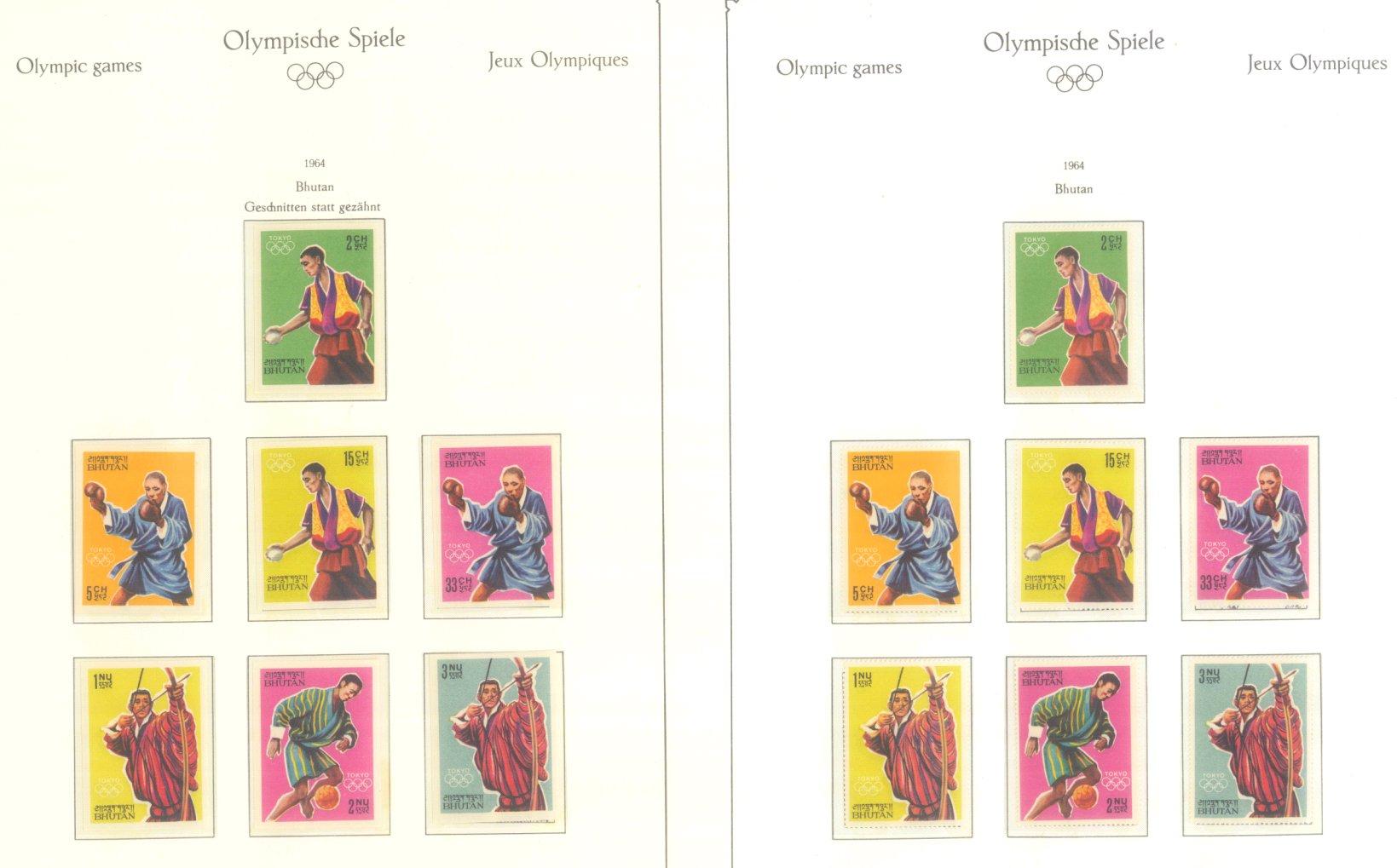 OLYMPISCHE SPIELE 1964 TOKIO, postfrische Sammlung Teil 1