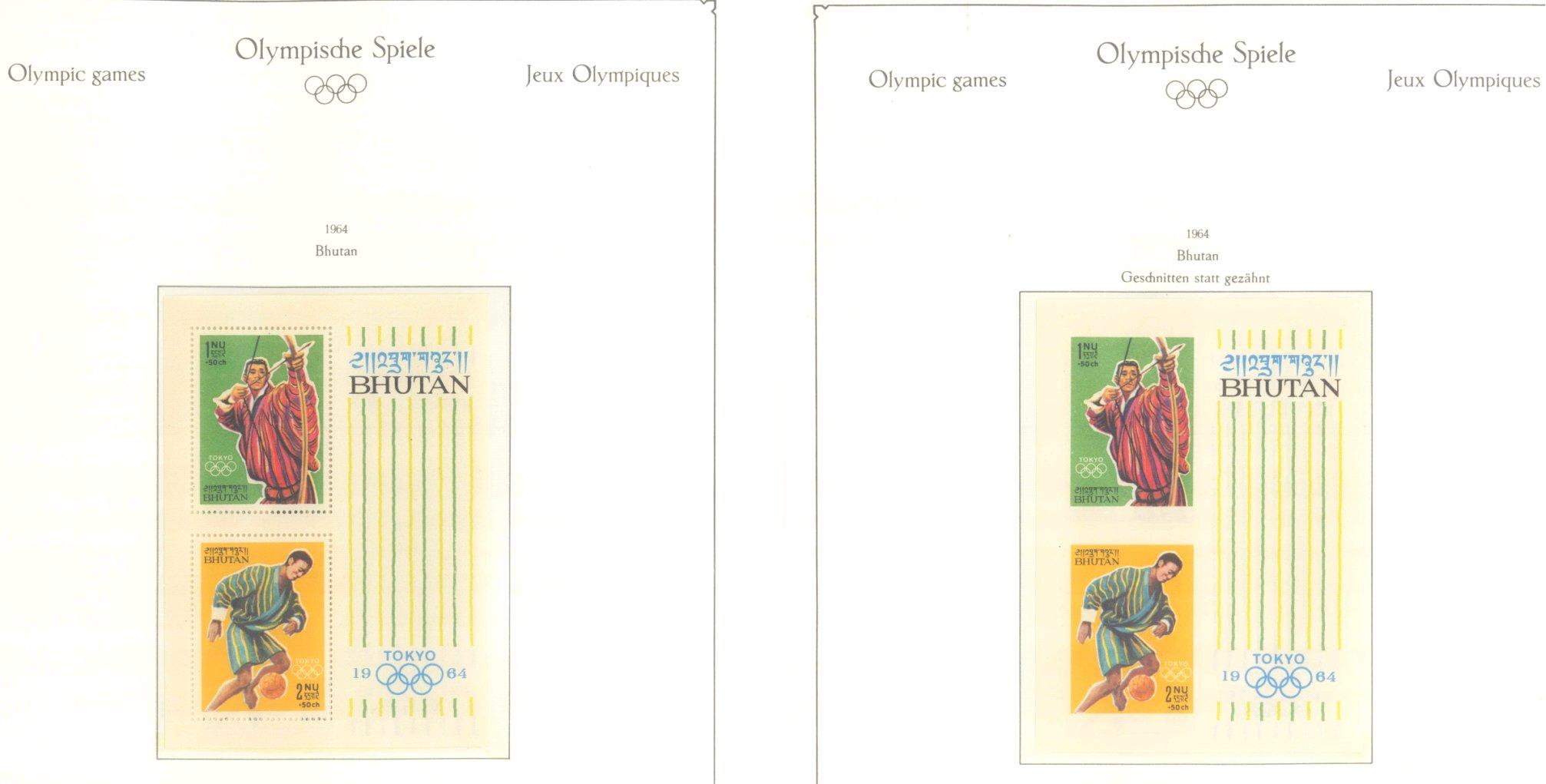 OLYMPISCHE SPIELE 1964 TOKIO, postfrische Sammlung Teil 1-1
