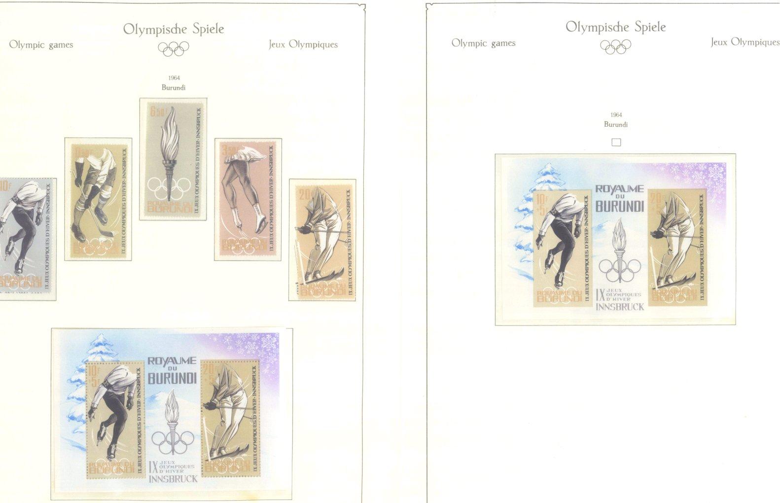 OLYMPISCHE SPIELE 1964 TOKIO, postfrische Sammlung Teil 1-2