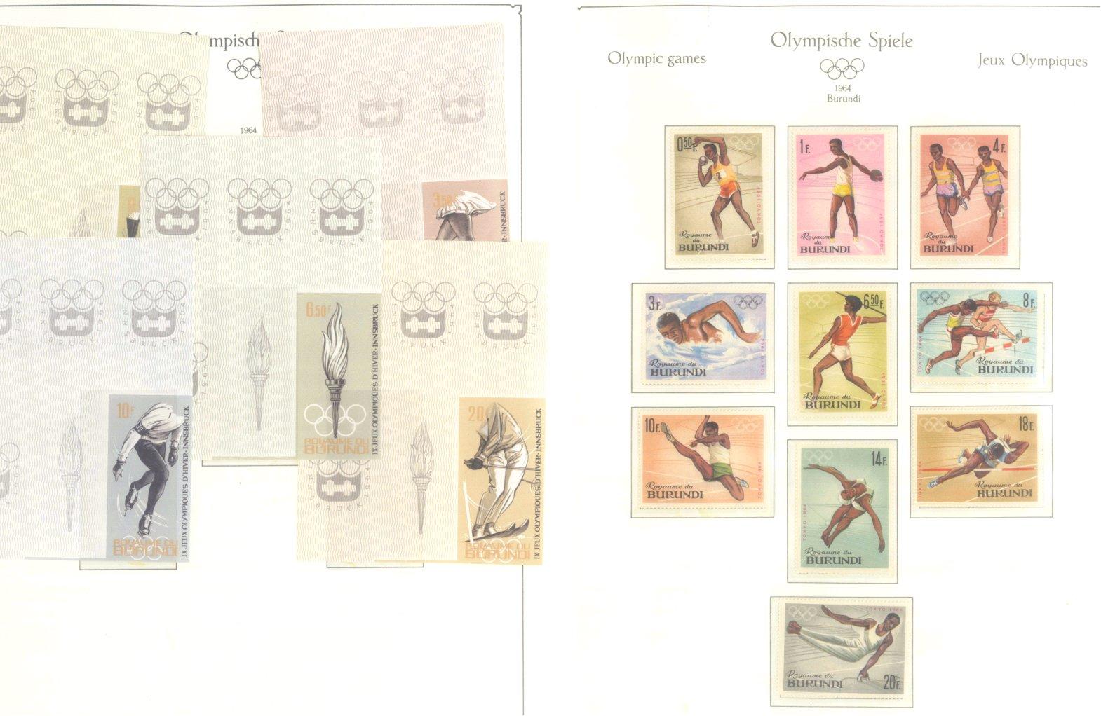 OLYMPISCHE SPIELE 1964 TOKIO, postfrische Sammlung Teil 1-3