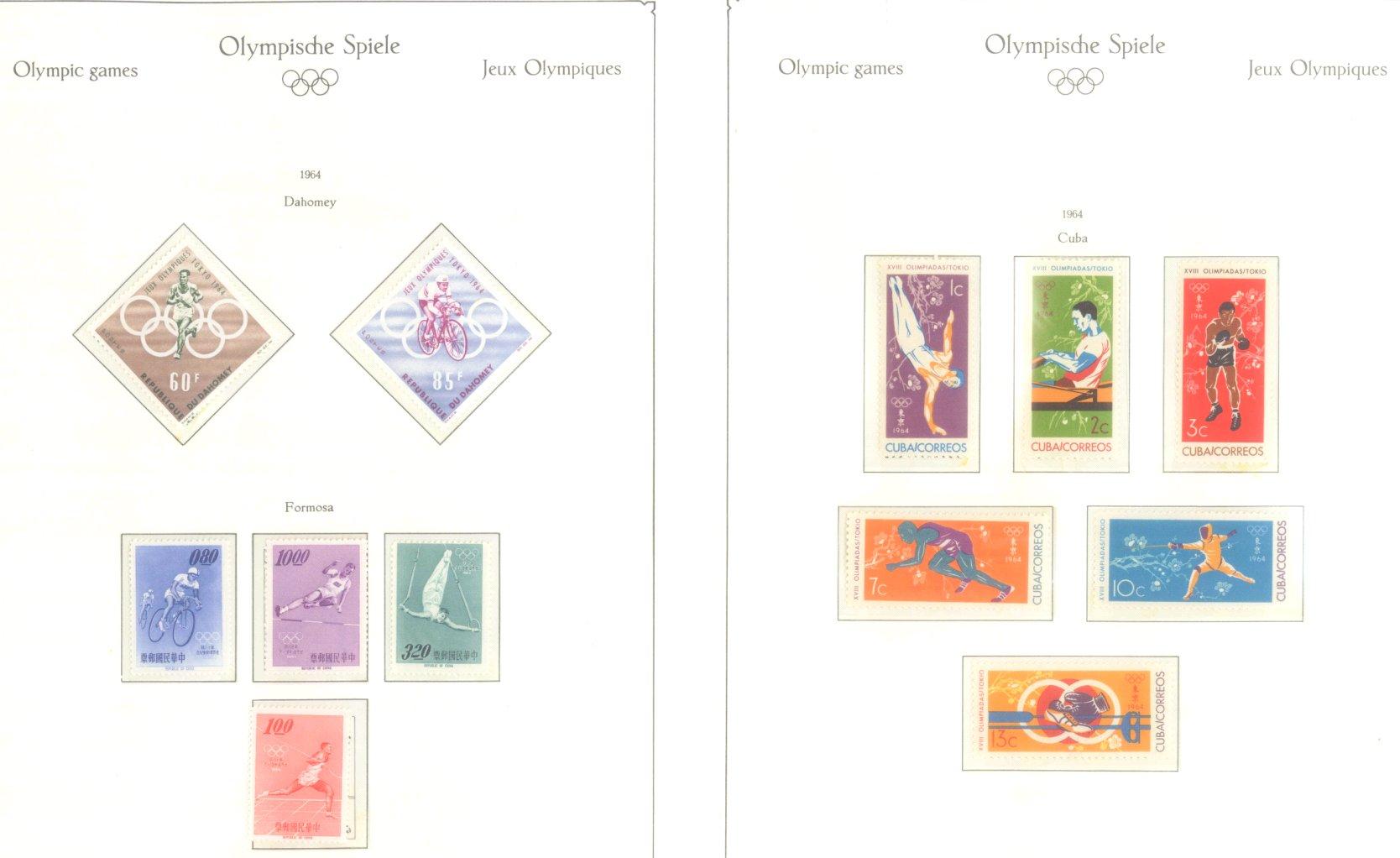 OLYMPISCHE SPIELE 1964 TOKIO, postfrische Sammlung Teil 1-5