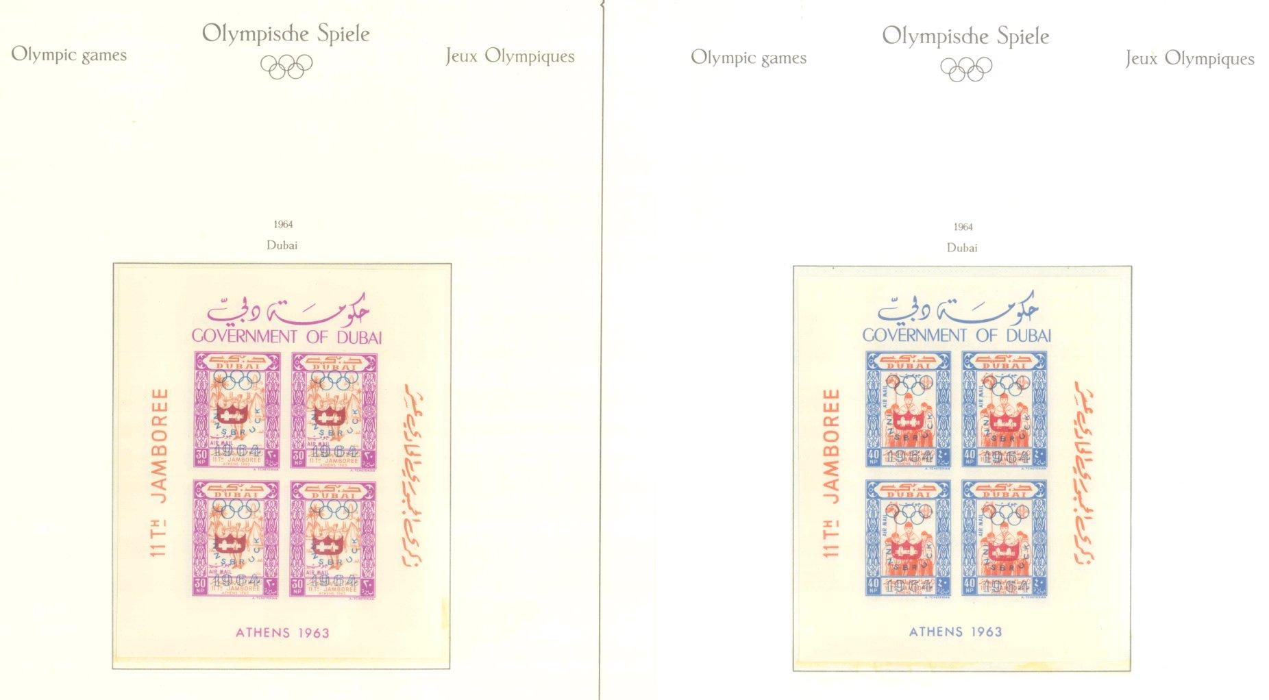 OLYMPISCHE SPIELE 1964 TOKIO, postfrische Sammlung Teil 1-8