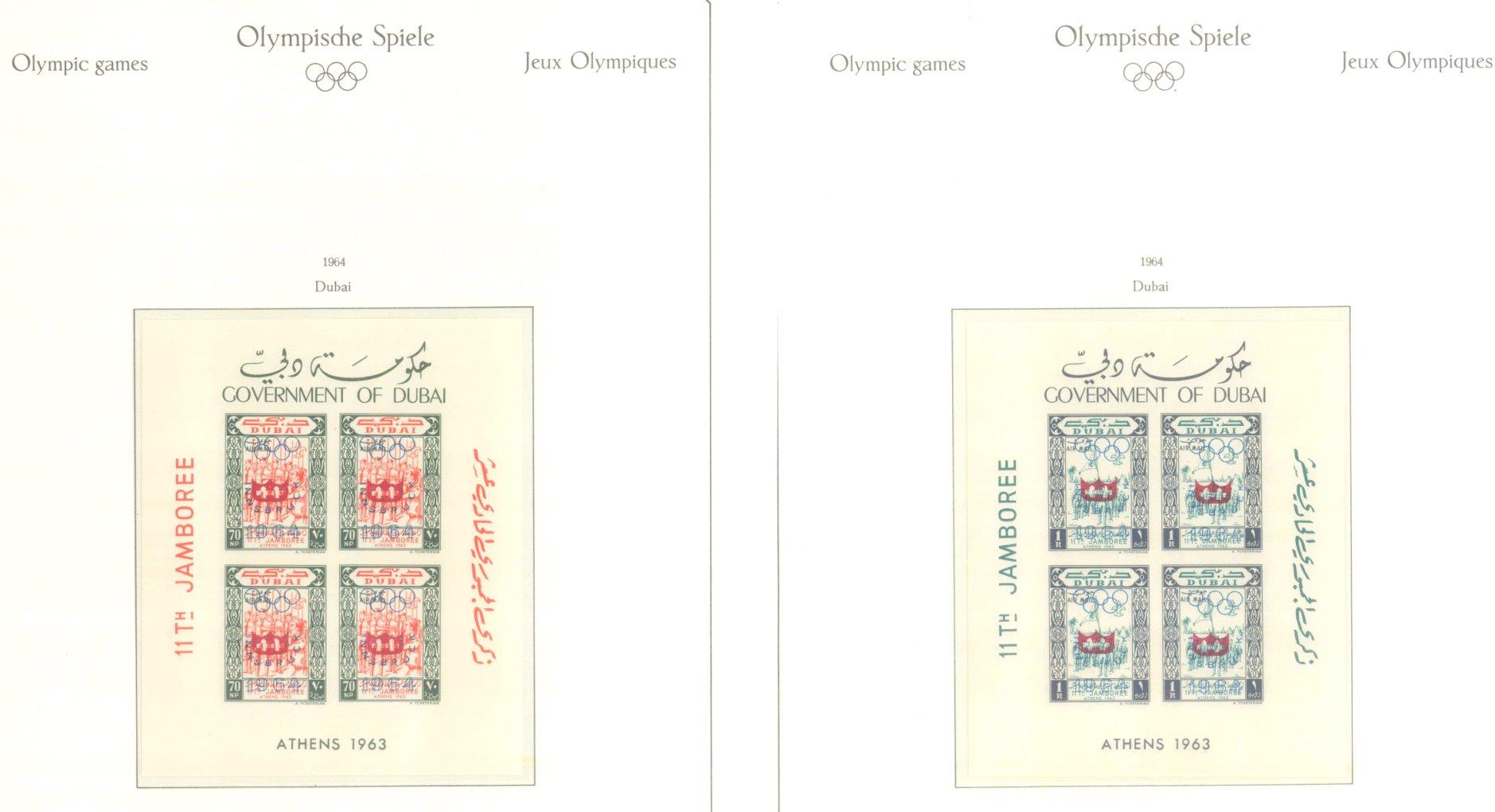 OLYMPISCHE SPIELE 1964 TOKIO, postfrische Sammlung Teil 1-9