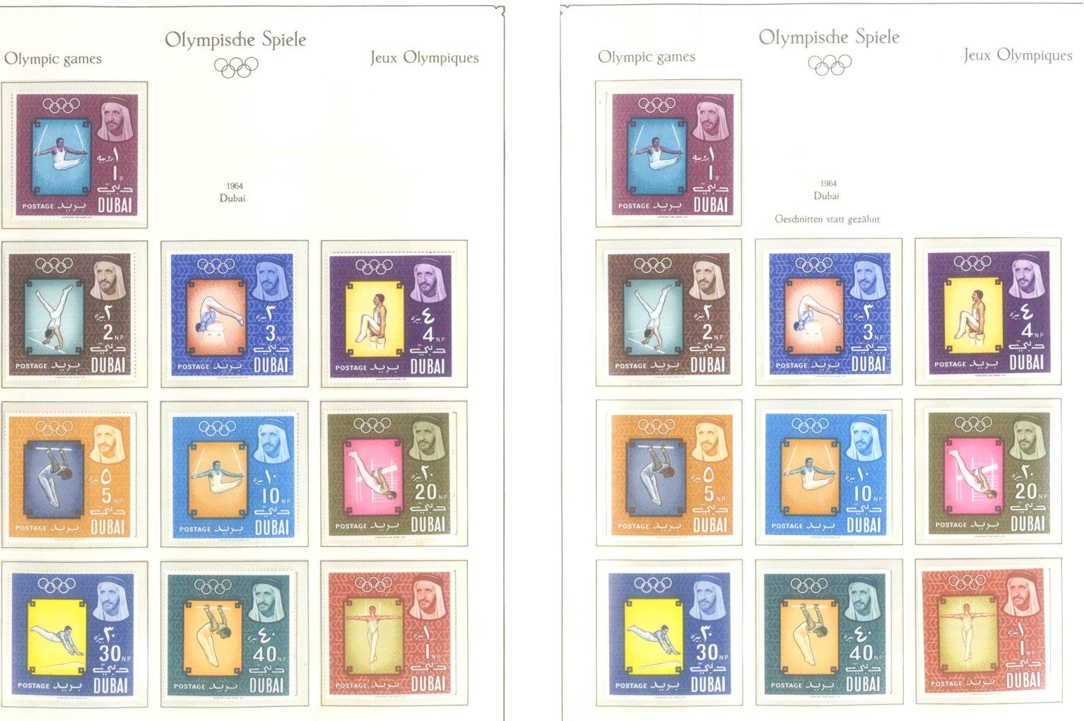 OLYMPISCHE SPIELE 1964 TOKIO, postfrische Sammlung Teil 1-10