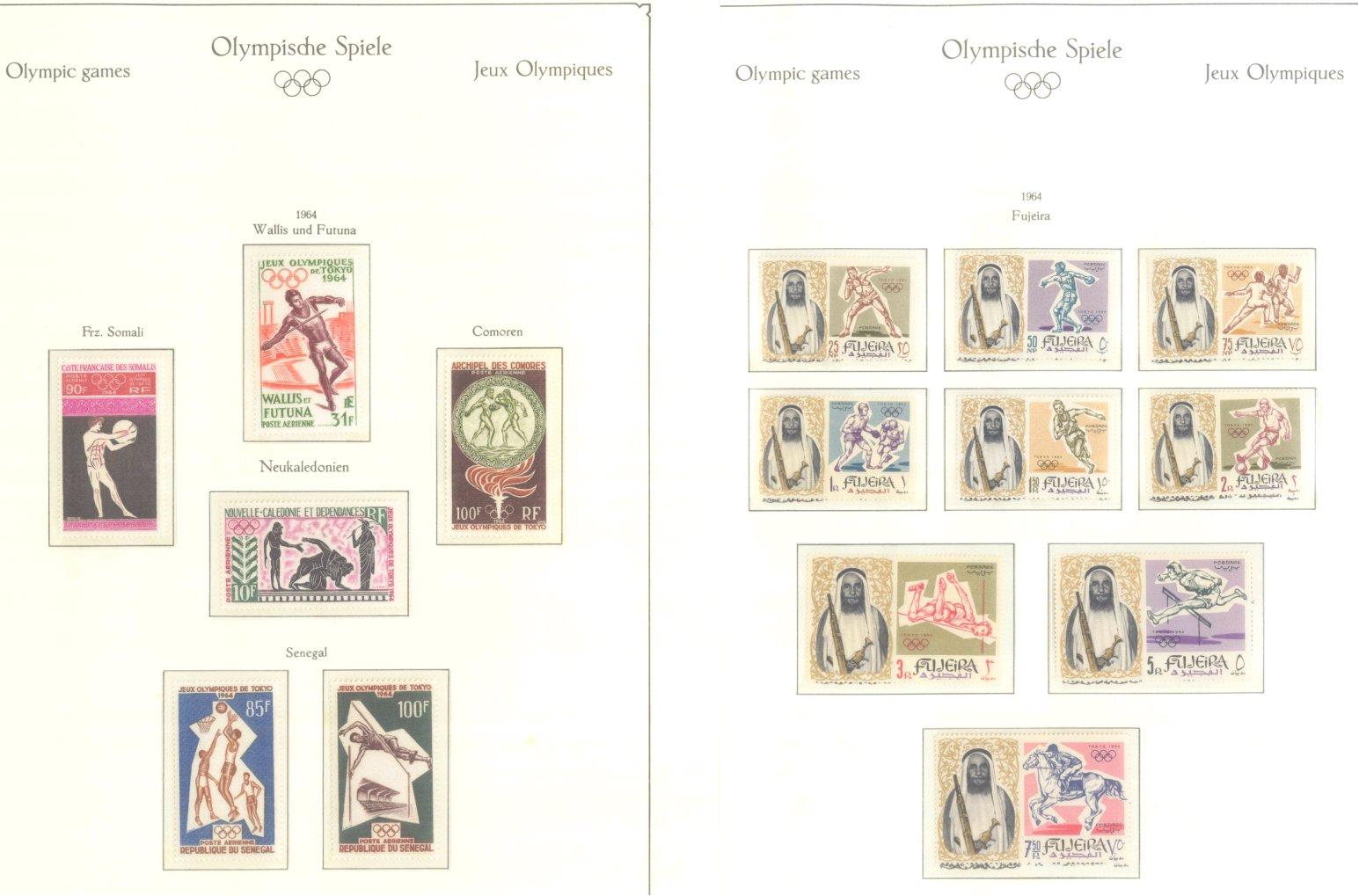 OLYMPISCHE SPIELE 1964 TOKIO, postfrische Sammlung Teil 1-12