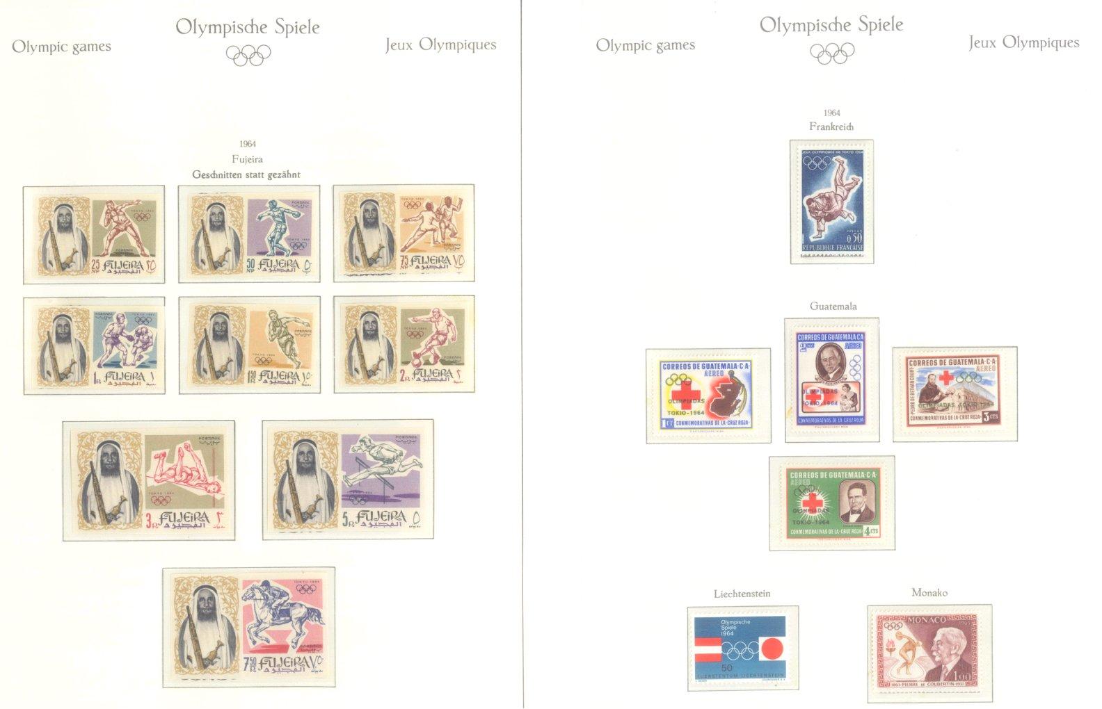 OLYMPISCHE SPIELE 1964 TOKIO, postfrische Sammlung Teil 1-13