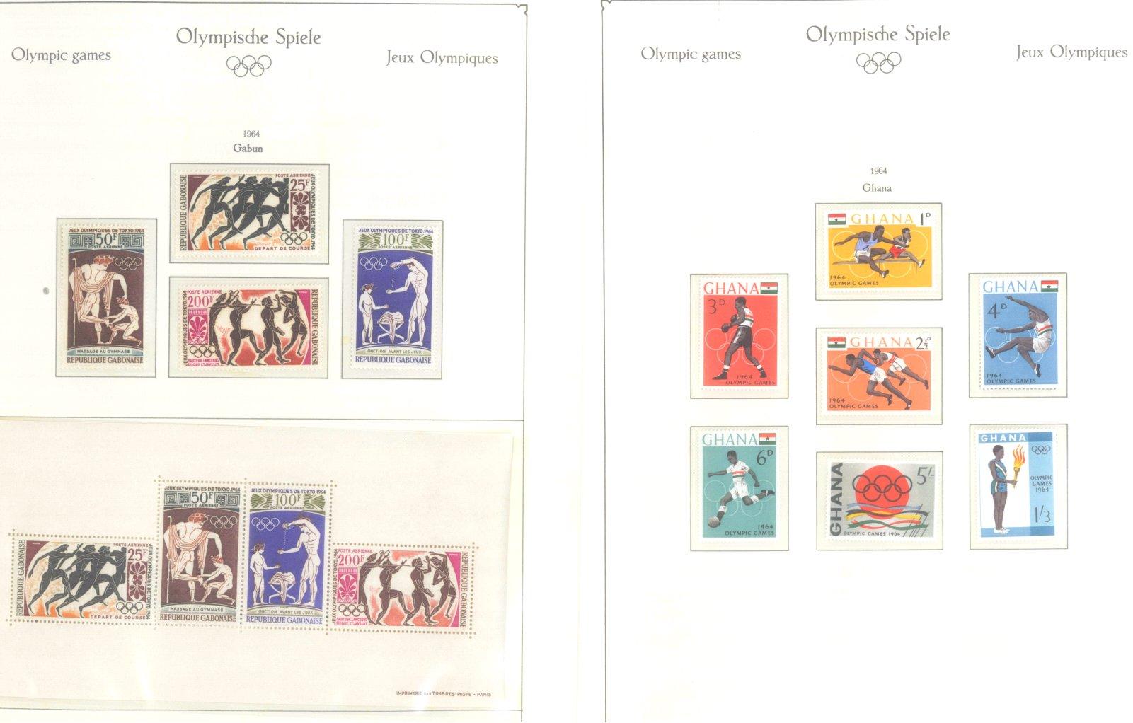 OLYMPISCHE SPIELE 1964 TOKIO, postfrische Sammlung Teil 1-14