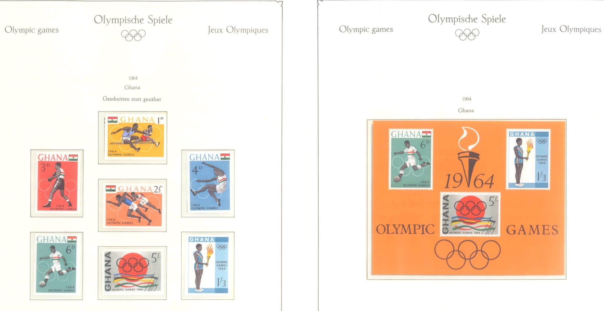 OLYMPISCHE SPIELE 1964 TOKIO, postfrische Sammlung Teil 1-15